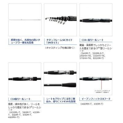 画像3: ≪'17年3月新商品!≫ シマノ ボーダレス V360-T 〔仕舞寸法 104cm〕 【保証書付き】 [3月発売予定/ご予約受付中]