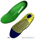 ≪新製品!≫ シマノ ビルトイン カップインソール グリーン KT-001H 3Lサイズ