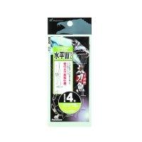 ハヤブサ 太刀魚 ワイヤー水平W 2本鈎2セット HW304 4号【10点セット】