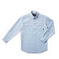 ≪'16年4月新商品!≫ がまかつ ダンガリーシャツ GM-3454 ブルー Mサイズ