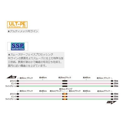 画像2: ≪新商品!≫ サンライン ソルティメイト・PEエギULT HS8 240m 0.4号 ホワイト&ピンク&ライトグリーン
