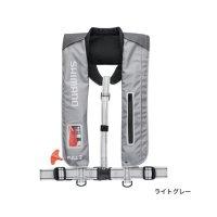≪'18年3月新商品!≫ シマノ ラフトエアジャケット(膨張式救命具) VF-051K ライトグレー フリーサイズ
