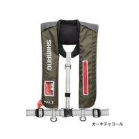 ≪'18年3月新商品!≫ シマノ ラフトエアジャケット(膨張式救命具) VF-051K カーキチャコール フリーサイズ
