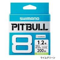 ≪'19年3月新商品!≫ シマノ ピットブル8 PL-M78S 300m 0.8号 ライムグリーン 【3個セット】