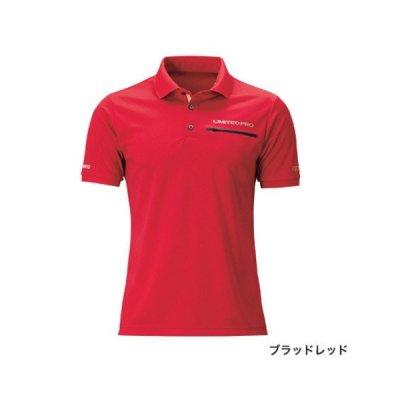 画像1: ≪'20年3月新商品!≫ シマノ ポロシャツ リミテッド プロ(半袖) SH-174T ブラッドレッド Sサイズ [3月発売予定/ご予約受付中]