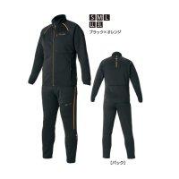 ≪'20年2月新商品!≫ がまかつ ジャージスーツ GM-3624 ブラック×オレンジ Sサイズ