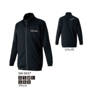 ≪'20年3月新商品!≫ がまかつ スウェットジャケット GM-3637 ブラック SSサイズ