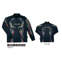 ≪'20年2月新商品!≫ がまかつ 2WAYプリントジップシャツ(長袖) GM-3616 ブラック Sサイズ