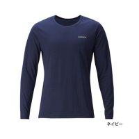 ≪'20年7月新商品!≫ シマノ Tシャツ(長袖) SH-095T ネイビー XSサイズ [7月発売予定/ご予約受付中]