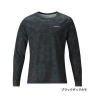 ≪'20年7月新商品!≫ シマノ Tシャツ(長袖) SH-095T ブラックダックカモ Mサイズ [7月発売予定/ご予約受付中]