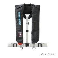 ≪'20年10月新商品!≫ シマノ ラフトエアジャケット(膨張式救命具) VF-051K ピュアブラック フリーサイズ